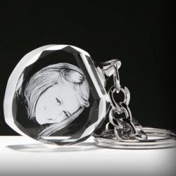- Kişiye Özel Kristal Kalp Anahtarlık (ışıksız)