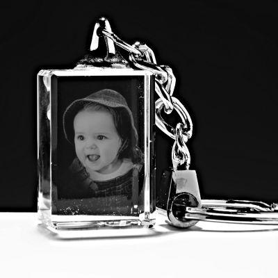 Kişiye Özel Kristal 30x20x15 ışıksız anahtarlık